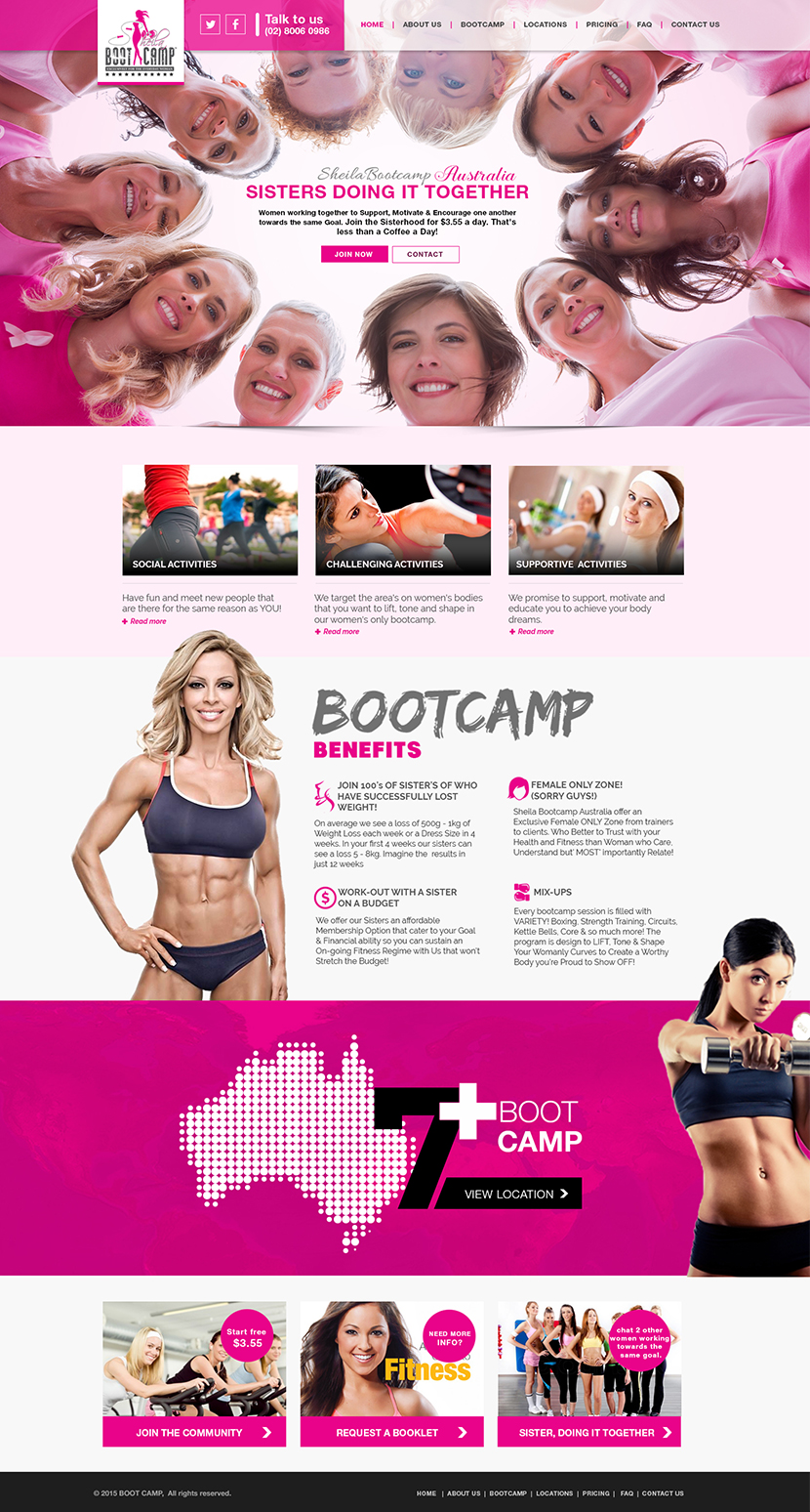 bootcamp website desigin 2019