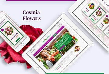 floral website design