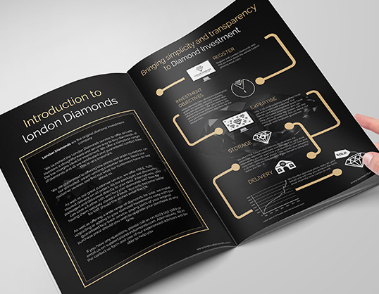 londondiamonds brochure infographics