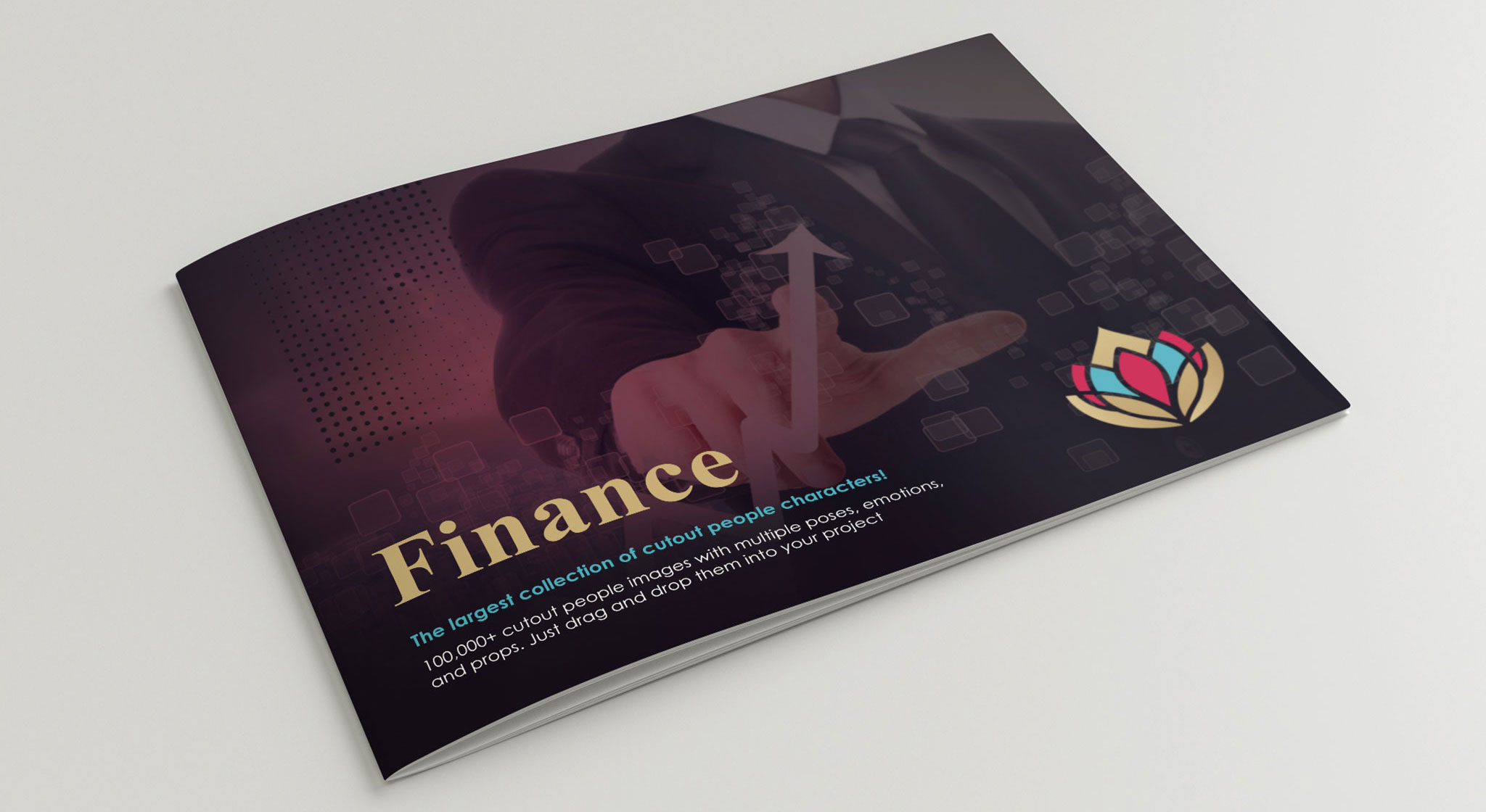 investment brochure cover design