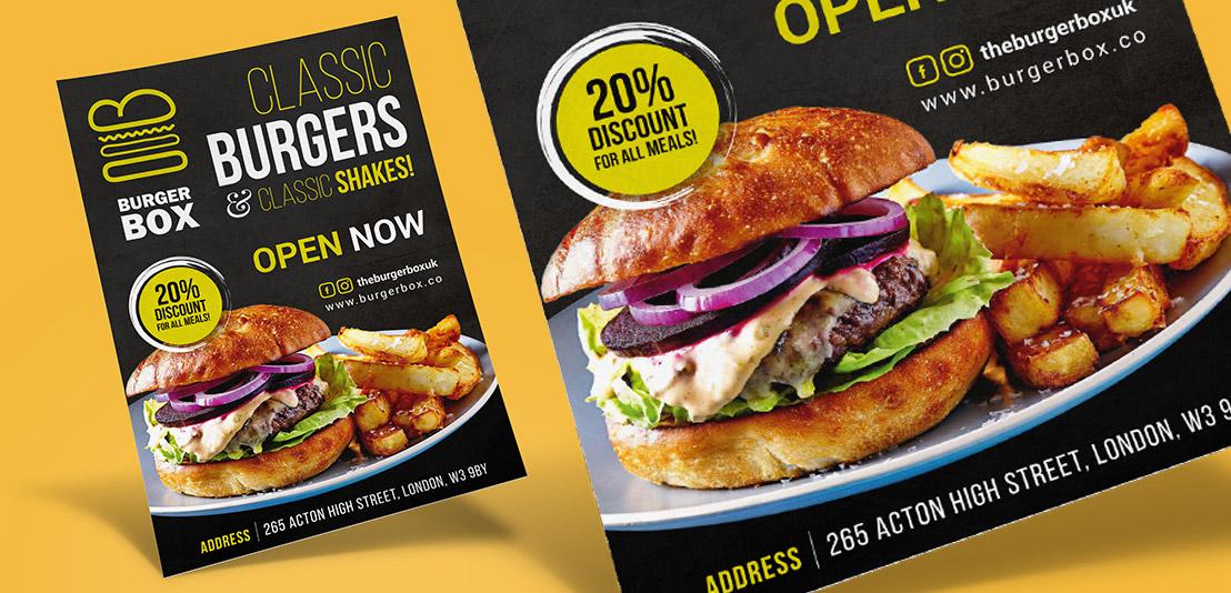 burger flyer design