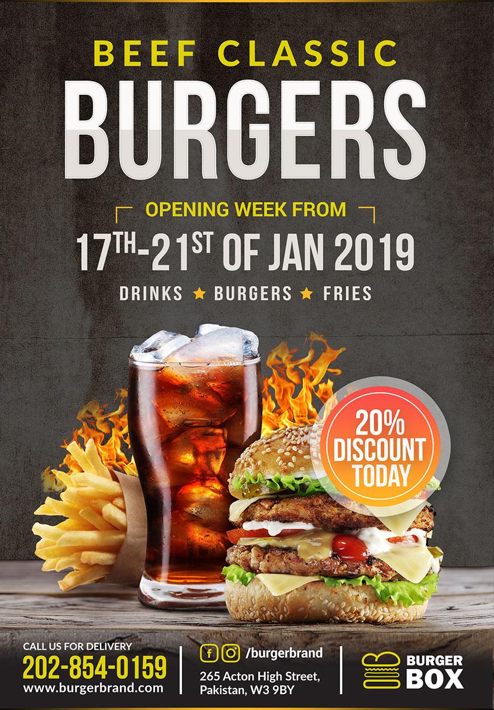 Burger free flyer
