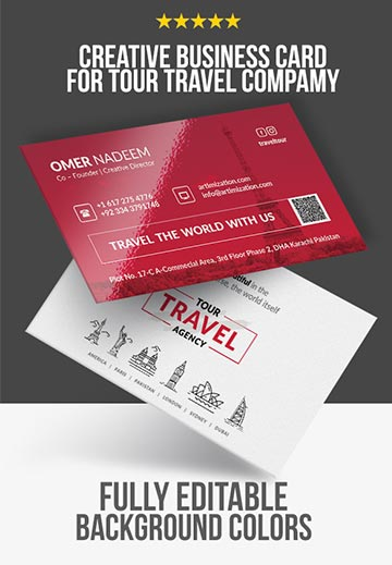 travel tour business card