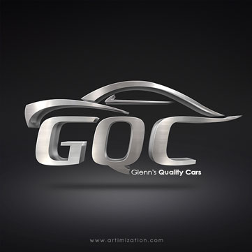 car 3d logo