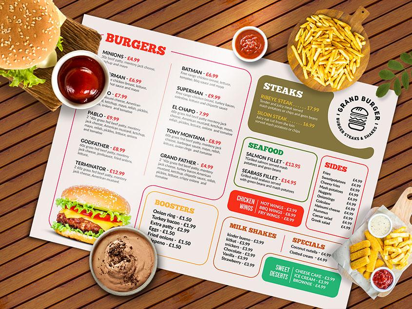 clean Resturant menu design