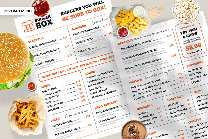 rustic Resturant menu design