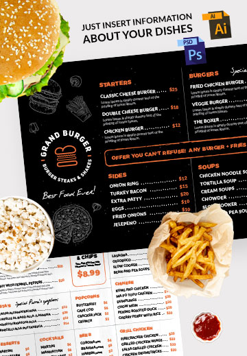 Resturant menu design template