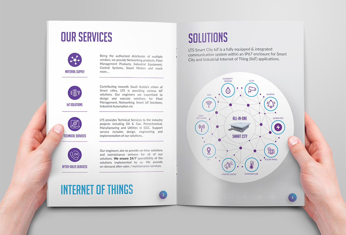 Smart solution brochure design infographics