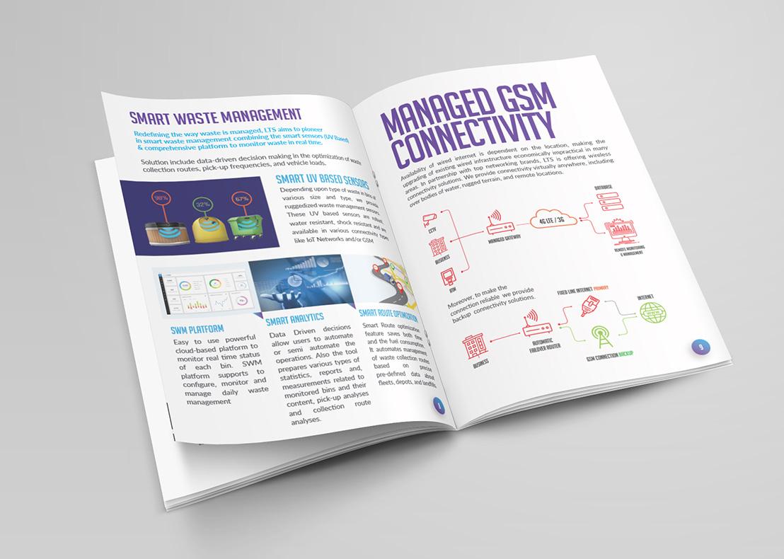 logistic brochure design template