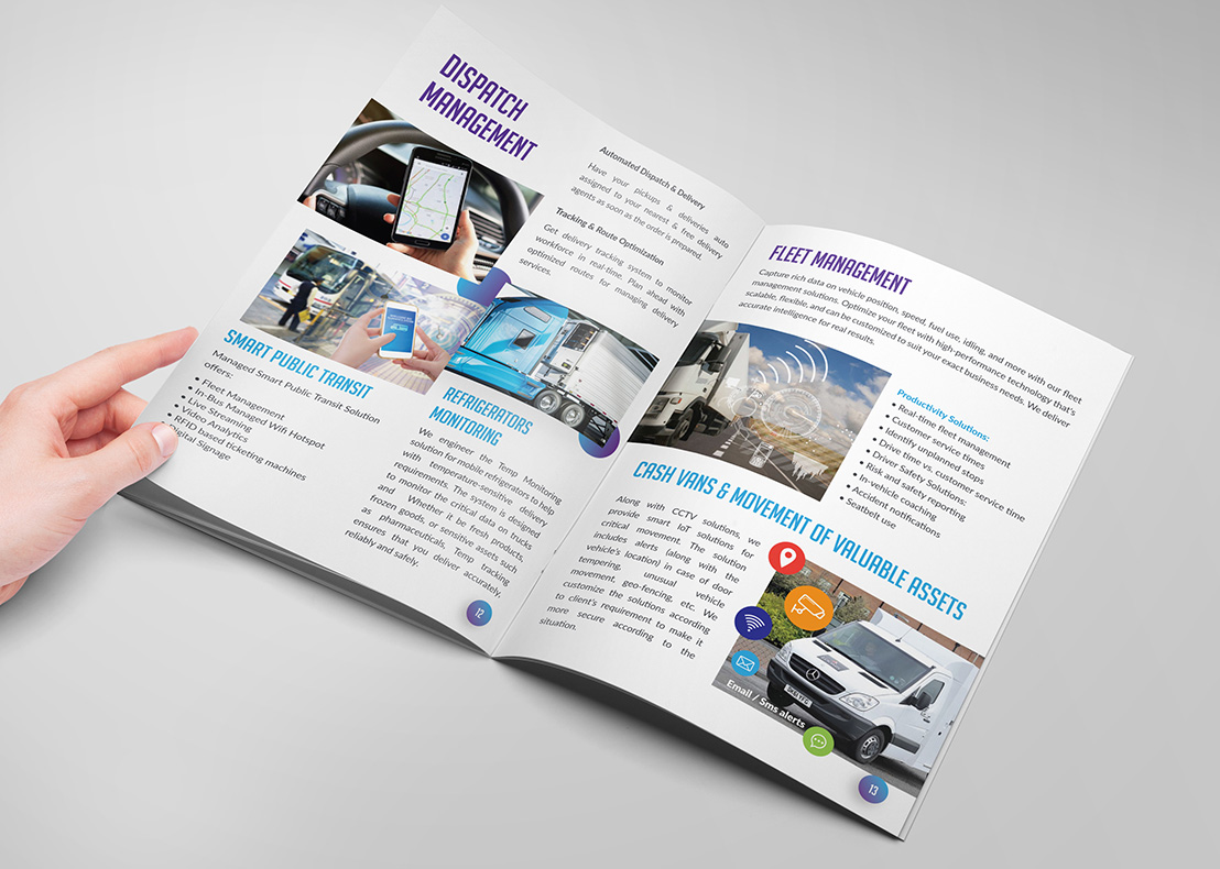Brochure design inside pages