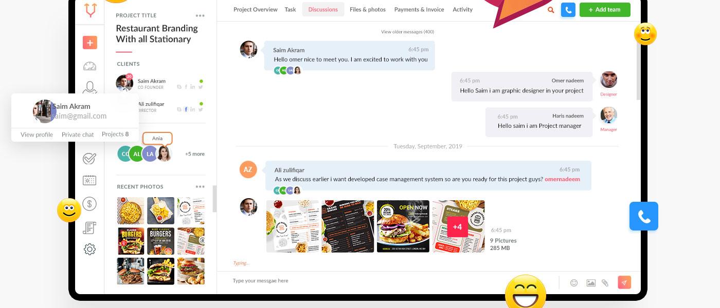 chatting app ui