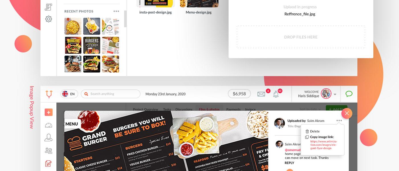 image popup ui design