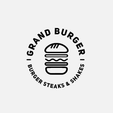 beef burger logo design